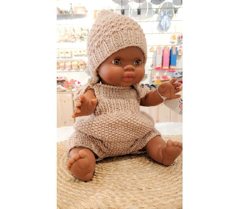 A Happy Thought - Driedelig handmade Beige Setje Poala Reina