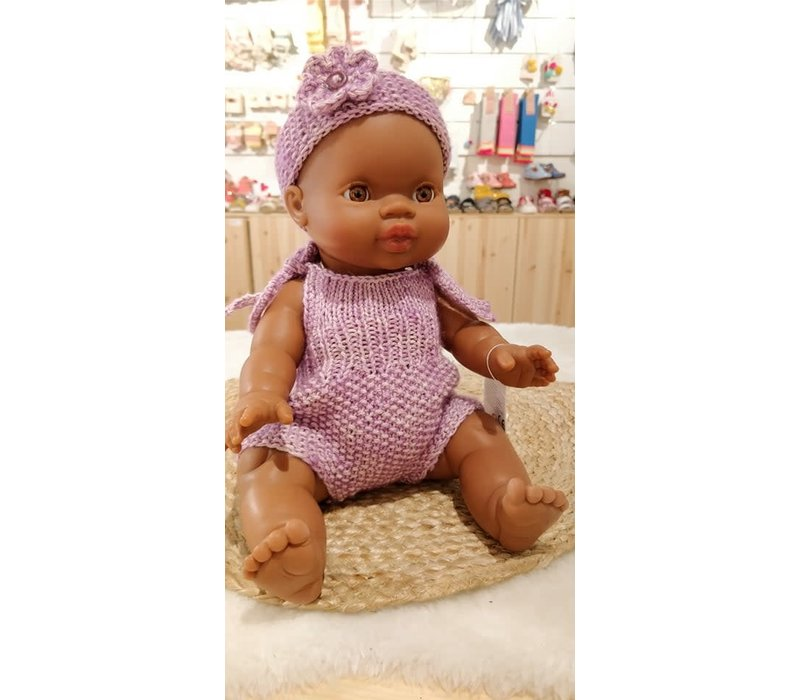 A Happy Thought - Handmade Paars Playsuit Poala Reina