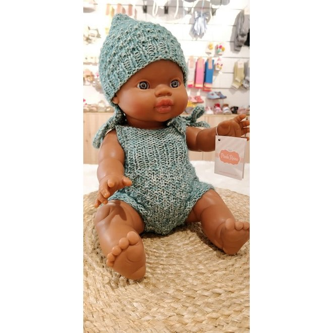 A Happy Thought - Tweedelig handmade Groen Setje Poala Reina
