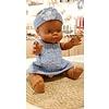 A Happy Thought - Tweedelig handmade Setje Blauw Poala Reina