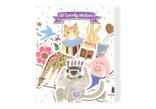 Djeco DJECO - Lovely Paper - 50 stickers - Aiko