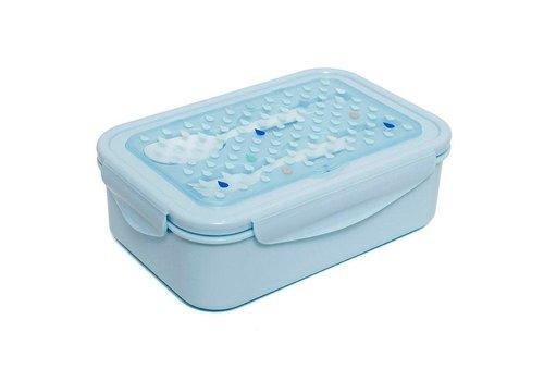 Verjaardagslijst PETIT MONKEY - Bento Lunchbox - Drops Blue