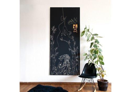 Verjaardagslijst GROOVY MAGNETS - Krijtbehang - Aap 100x265cm