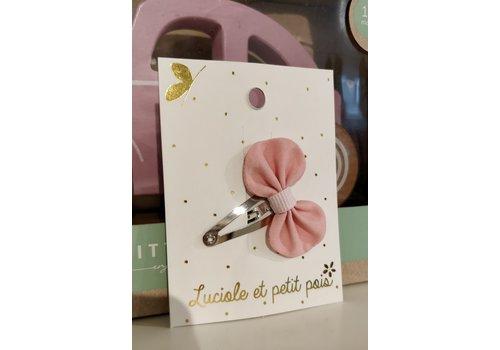 Verjaardagslijst LUCIOLE ET PETIT POIS - Mini Haarspelden - Strik Pink