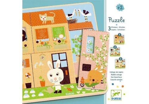 Djeco DJECO - 3D Puzzel - Chez Carrot