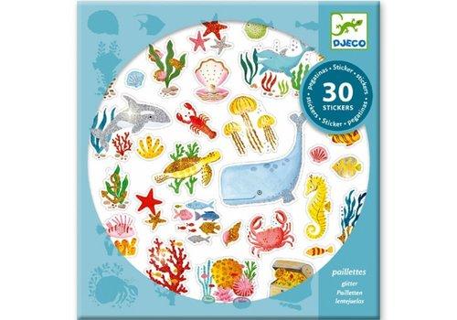Djeco DJECO - 30 Stickers - Onderwaterdroom