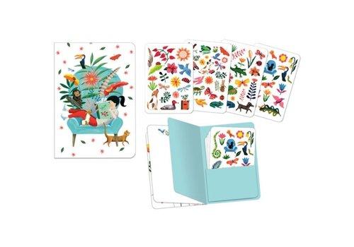 DJECO - Cahier avec Stickers - Sarah