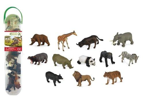 CollectA COLLECTA - Prehistorie - Mini Collectie Wilde Dieren 12 stuks
