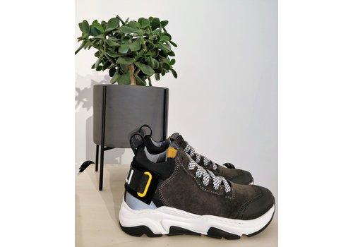 Morelli MORELLI - Sneaker - Scarpa Stringa Black/Dark Grey/Silver