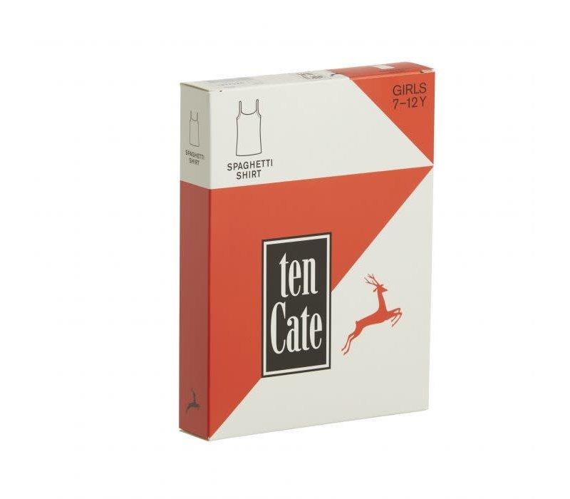 TEN CATE - Spaghetti Top - Black Melee - maat 122 tem 152