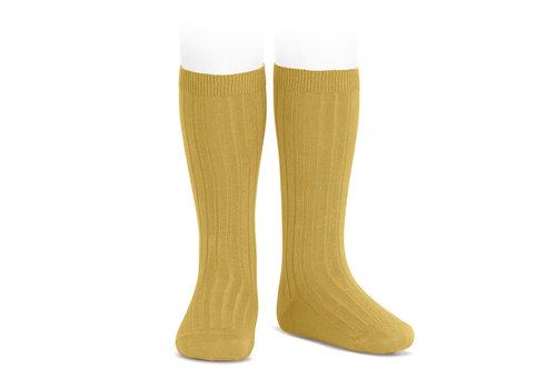 CONDOR CONDOR - Kniesokken - Mustard (629)