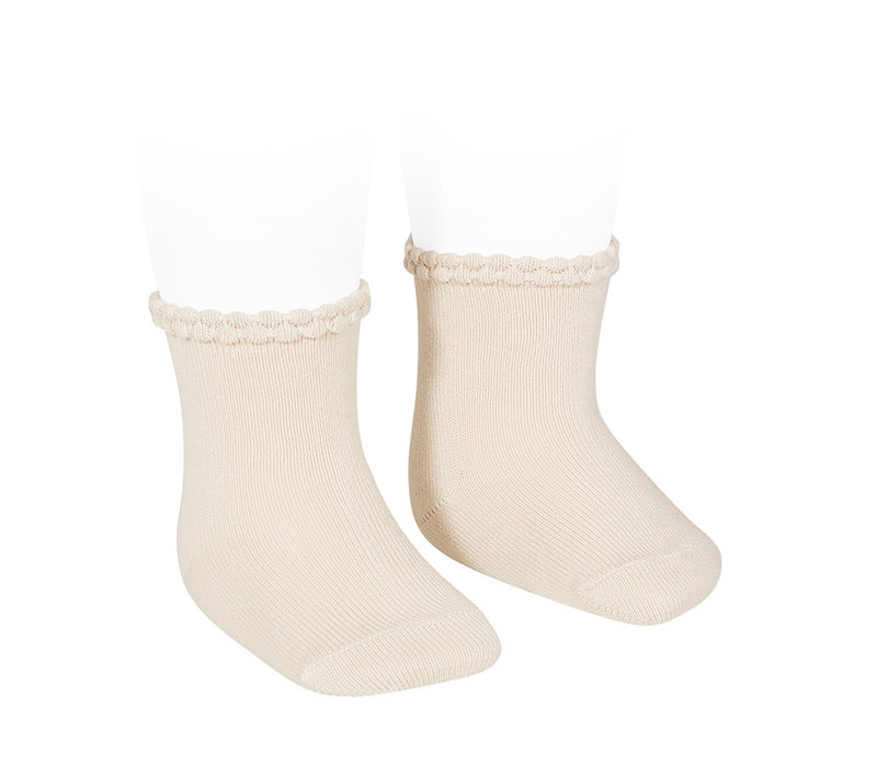 CONDOR - Short Sock with Openworked cuff (304)