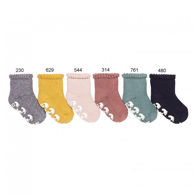 CONDOR - Non-slip terry socks with patterned Cuff