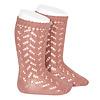 CONDOR CONDOR - Warm Cotton Crochet Knee sock (126)