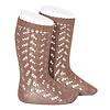 CONDOR CONDOR - Warm Cotton Crochet Knee sock (314)