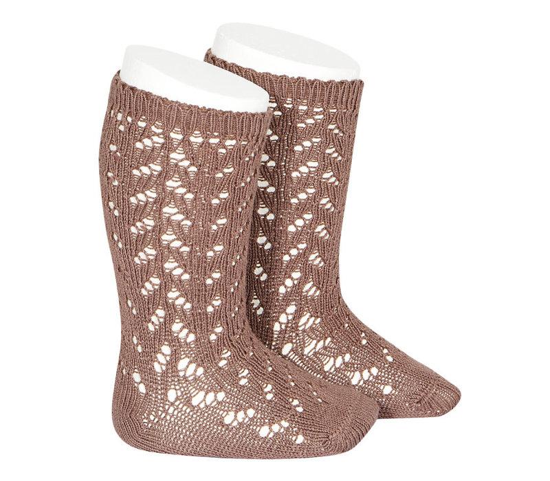 CONDOR - Warm Cotton Crochet Knee sock (314)