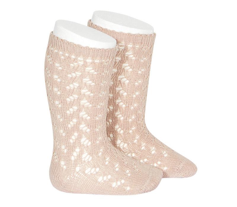 CONDOR - Warm Cotton Crochet Knee sock (544)