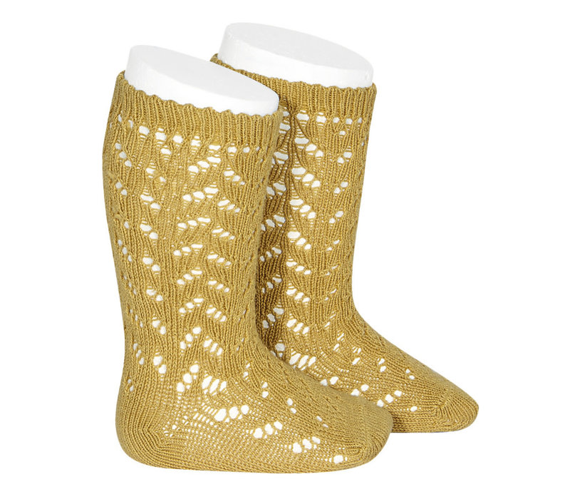 CONDOR - Warm Cotton Crochet Knee sock (629)