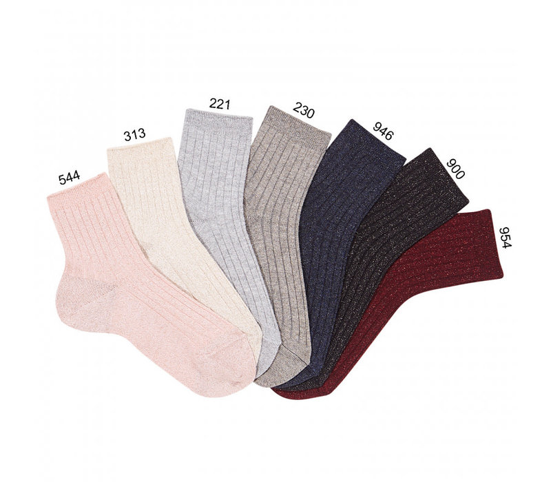 CONDOR - Lurex rib ankle socks
