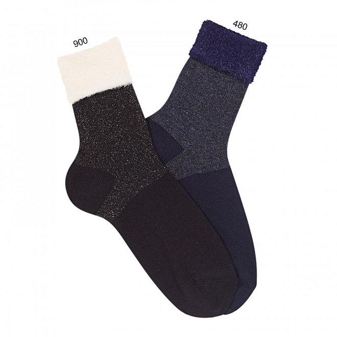 CONDOR - Korte Sokken met glitter omslag - Verschillende kleuren
