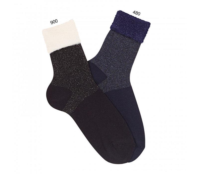 CONDOR - Bright socks with Faux fur folded cuff