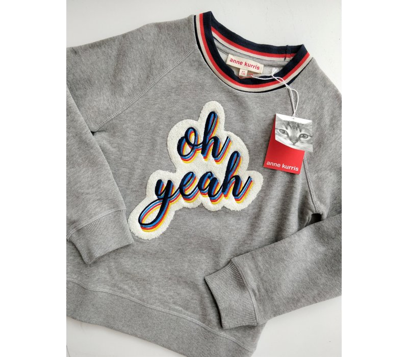 ANNE KURRIS - Sweater Oh Yeah - Maat 128