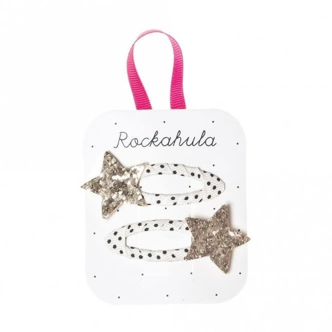 ROCKAHULA - Haarspelden - Bedazzle Glitter Star Gold