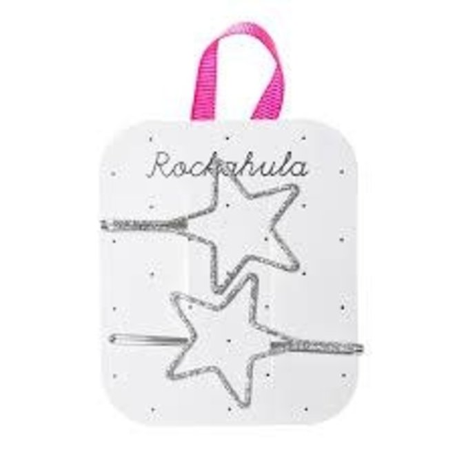 ROCKAHULA - Haarspelden - Starry Cut Out Slides Silver