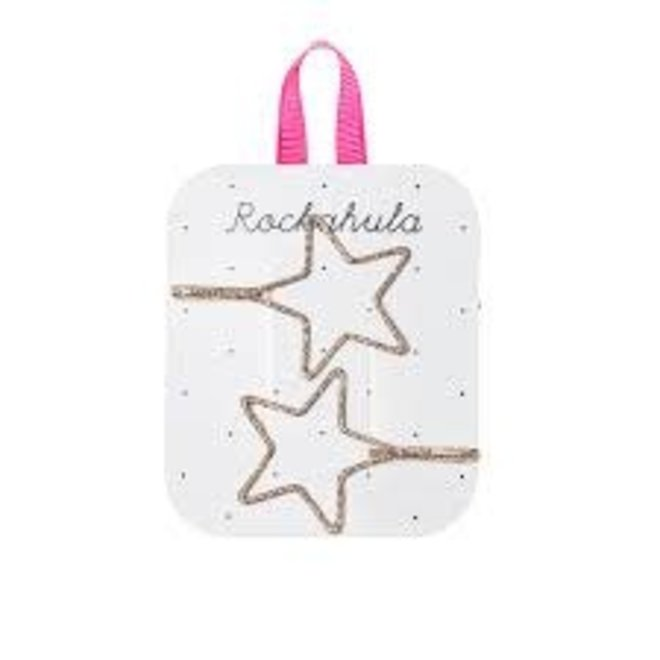 ROCKAHULA  - Haarspelden - Starry Cut Out Slides Gold