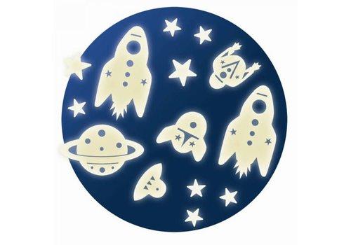 GEBOORTELIJST - Muurstickers - Mission Espace (62stuks)