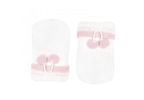 CONDOR CONDOR - Cotton Baby handschoenen met pompoms (200)
