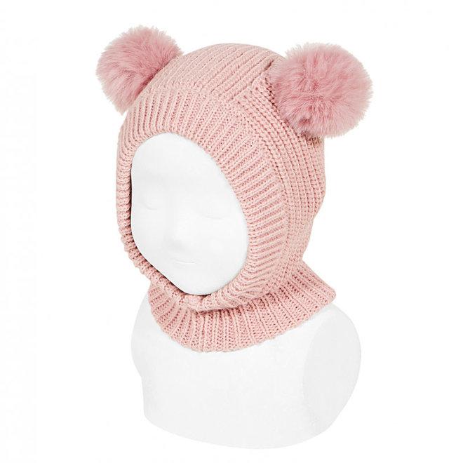 CONDOR - Muts met pompoms - Pale Pink (526)