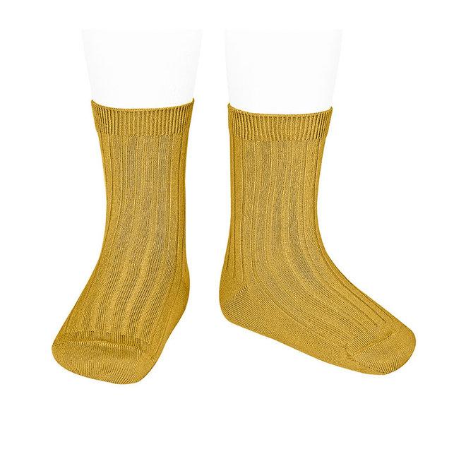 CONDOR - Korte Sokken - Mustard (629)