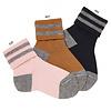 CONDOR CONDOR - Striped short socks with folded cuff