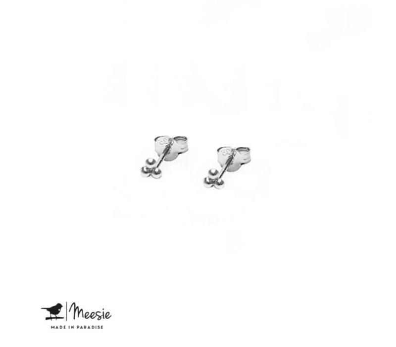 MEESIE&BINTJE - Oorbellen - Dots (Zilver)