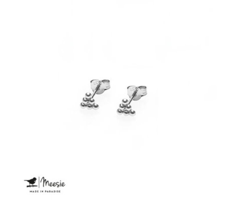 MEESIE&BINTJE - Oorbellen - Driehoek Stip (Zilver)