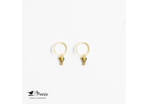 Meesie&Bintjes MEESIE&BINTJE - Oorbellen Bedel - Olifant (Goud op Zilver)
