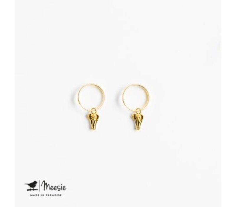 MEESIE&BINTJE - Oorbellen - Olifant (Goud op Zilver)