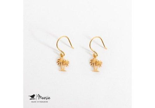 Meesie&Bintjes MEESIE&BINTJE - Oorbellen - Palmboom (Goud op Zilver)