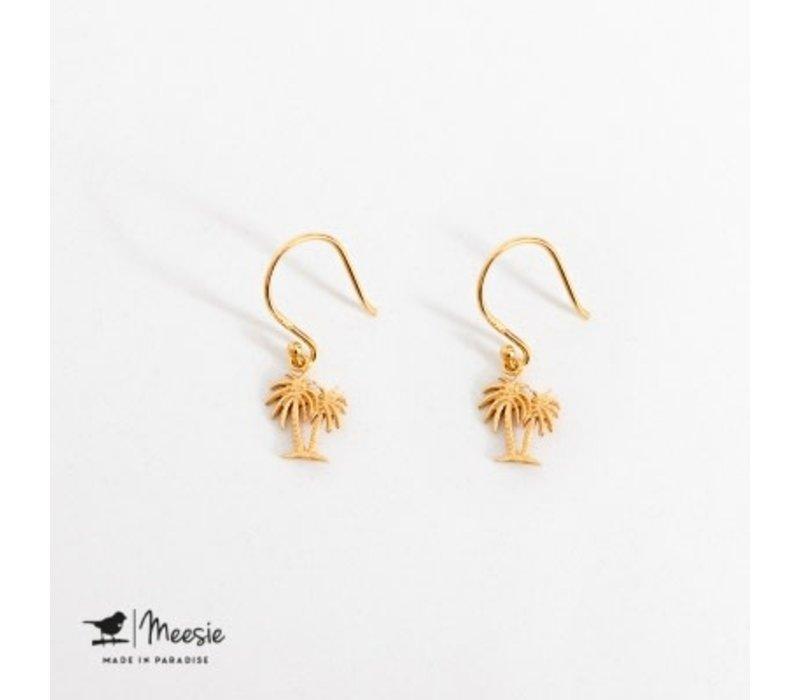 MEESIE&BINTJE - Oorbellen - Palmboom (Goud op Zilver)