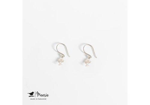 Meesie&Bintjes MEESIE&BINTJE - Oorbellen Bedel - Palmboom (Zilver)