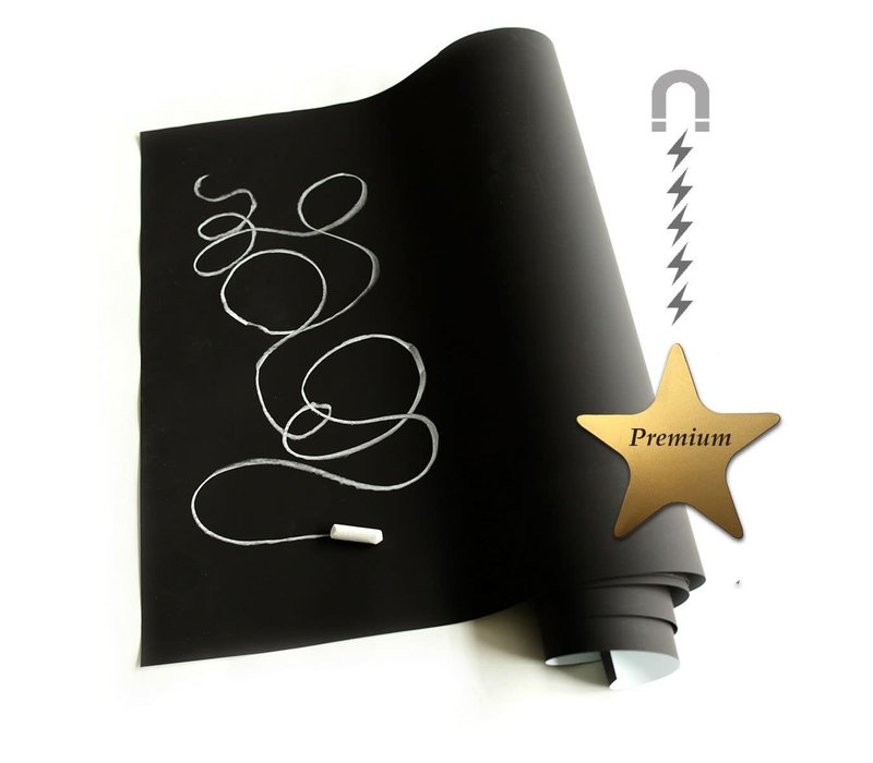 GROOVY MAGNETS - Kleur & Magneet behang - Effen zwart 102x265cm