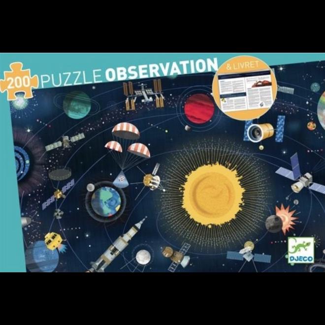 DJECO - Zoek&Vind Puzzel - De Ruimte (200stuks) 6+