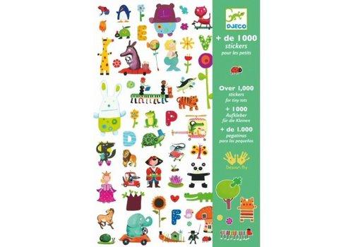 Djeco DJECO - 1000 Stickers - Groen