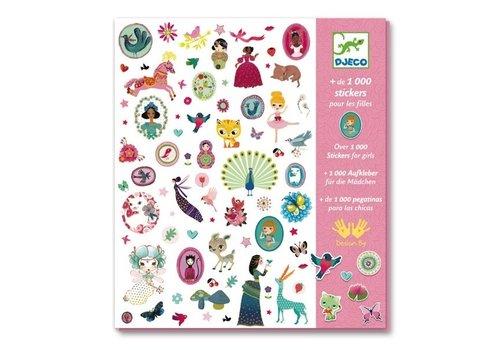Djeco DJECO - 1000 Stickers - Roos