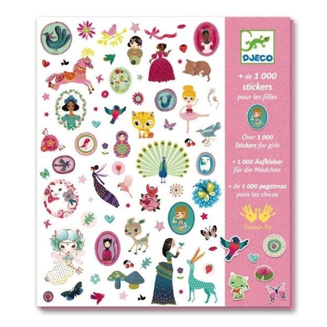 DJECO - 1000 Stickers - Roos