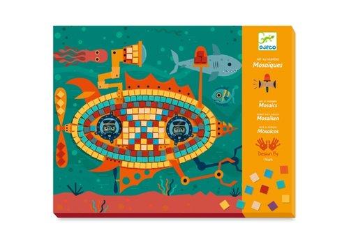 Djeco DJECO -  Mosaik Stickers - Topracers 6+