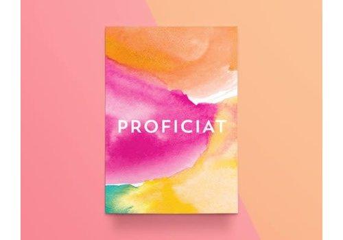 """Kathings Kathings - Postkaart - Colors """"Proficiat"""""""