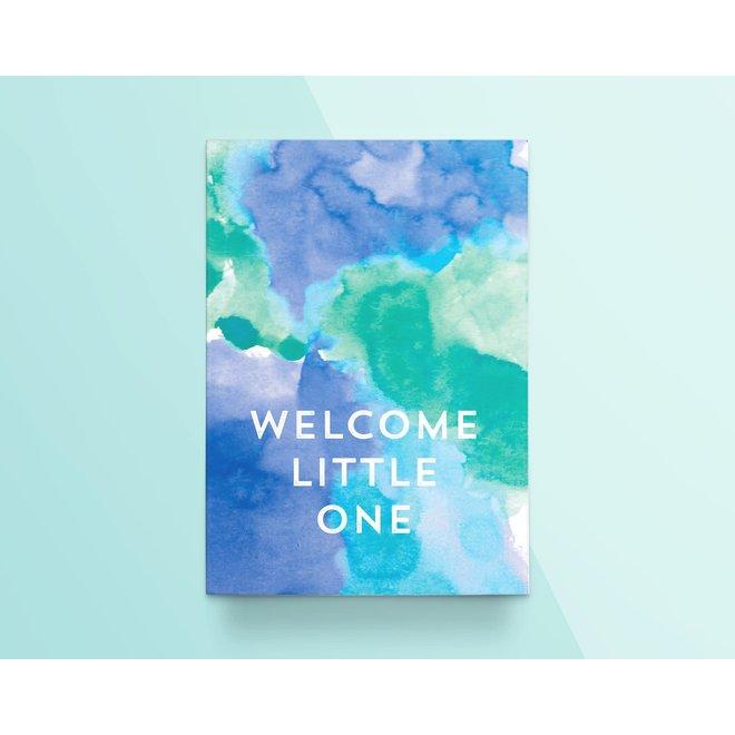 "Kathings - Postkaart - Colors ""Welcome Little One"" Blauw"
