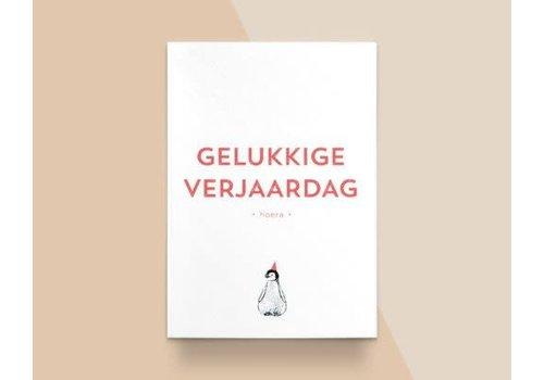 """Kathings Kathings - Postkaart - Animals  """"Gelukkige Verjaardag"""" Pingiun"""